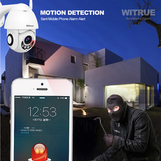PTZ IP Camera 1080P WiFi Wireless Outdoor Waterproof Two Way Audio 64G TF Card Recording Mobile View Surveillance CCTV Camera 5