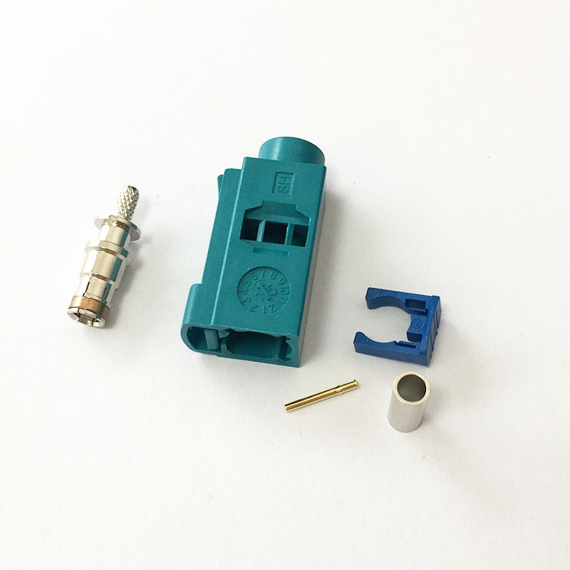 1pc Fakra Z female connector water blue color crimp for RG316 RG174 ...