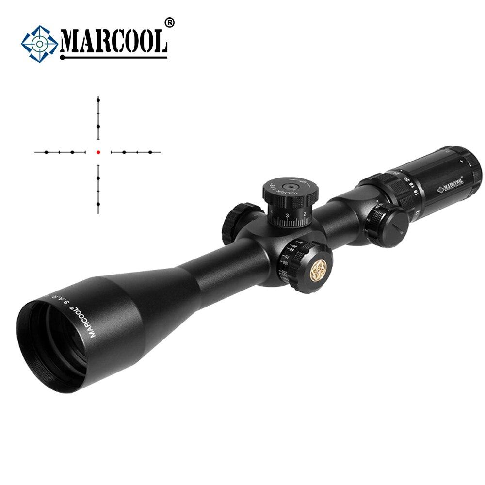 MARCOOL Guns Optical EVV 6-24X50 SFIRGL FFP caza táctica Riflescope óptico telescópico visión nocturna Para Luneta Para Rifle
