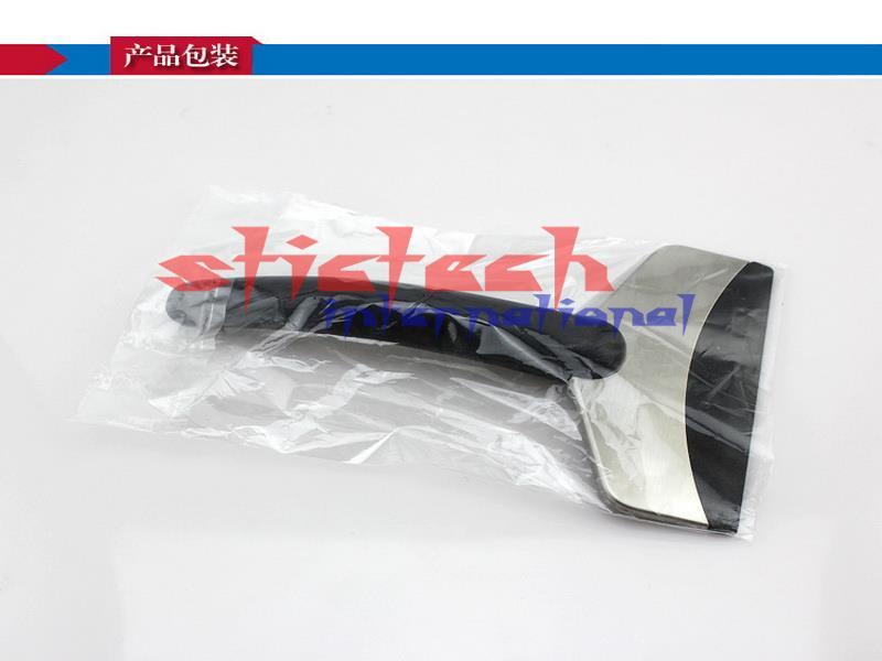 По DHL или FedEx 100 шт. лопата из нержавеющей стали удаление скребка инструмент для очистки автомобиля Мода и полезная очистить от льда инструмент