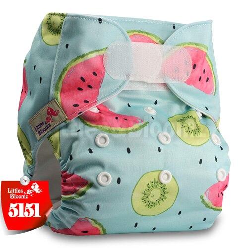 [Littles&Bloomz] Детские Моющиеся Многоразовые, настоящая стандартная ткань, застежка-липучка, карман для подгузников, пеленки, обертывание, подходит для рождения в горшке - Цвет: 5151