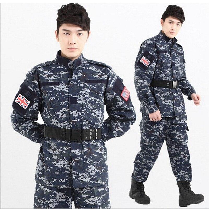 Tactique US armée Camouflage Combat uniforme ACU Multicam mer numérique Camo militaire vêtements ensemble Airsoft extérieur veste + pantalon