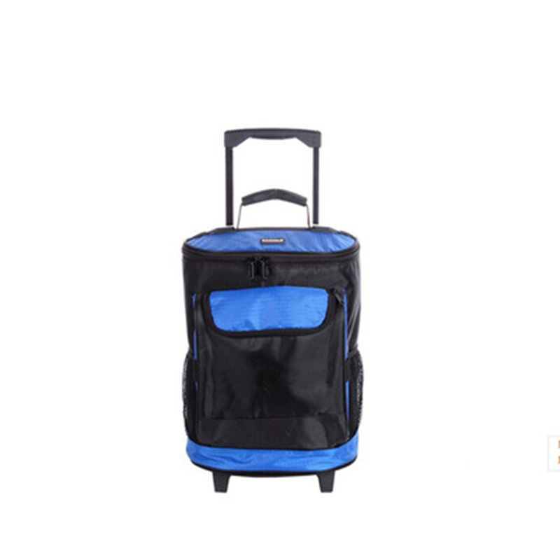 Picnic Car Pull Rod Bags Ice Pack Bolsa Termica Compartimentos Dieta Cooler Bags 32L Picnic Storage  Thermal Cooler Bag 20l extra large camouflage cooler bags thermal insulated picnic bag box travel picnic food storage accessories supplies products