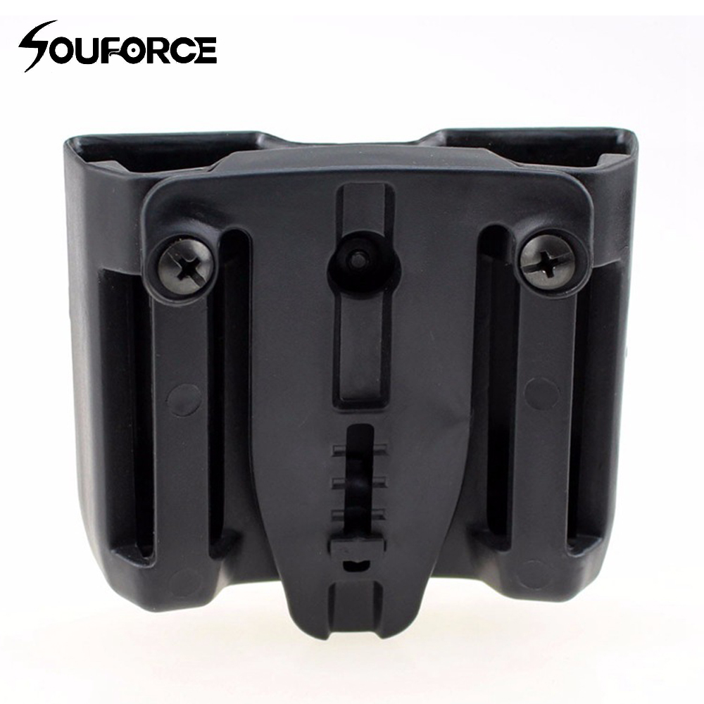 Military Quick Draw Double Magazine mag Pouch Case Duty Belt for Colt 1911 Black