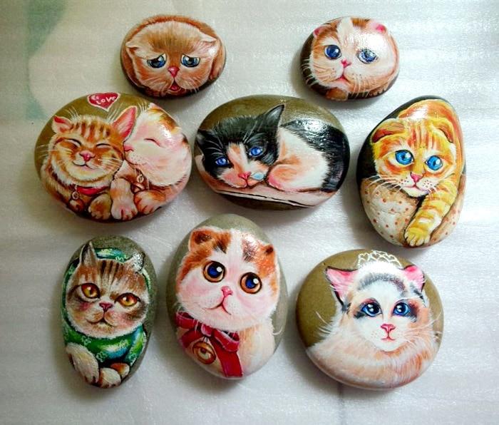 Compra piedras pintadas a mano online al por mayor de for Pintura de piedras