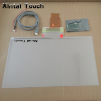27 inch transparent touch screen foil 10 points touch interactive foil capacitive touch film for LED TV