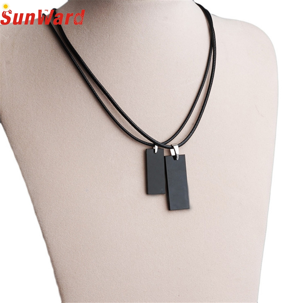 OTOKY 2018 Hot Sale 1PC Leather Chain Necklace Black 45CM Necklace Cords Choker Necklace For Gift Dropshipping Mar20