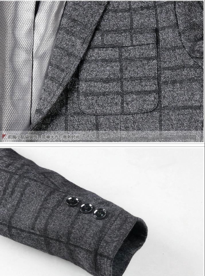 EWQ/дизайнерский плащ, блейзеры для мужчин или женщин, свободное черно белое клетчатое повседневное пальто для мужчин 2020, Весенняя мода, нови... - 4