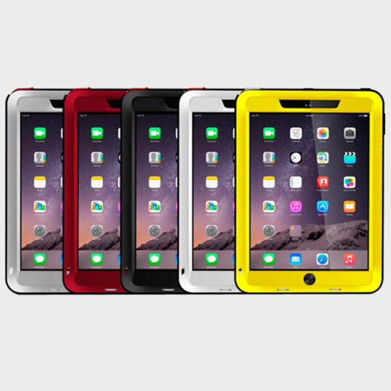 Love Mei Armor Cover Waterproof Case for iPad Mini 1 2 3 Retina Fundas Shell Housing