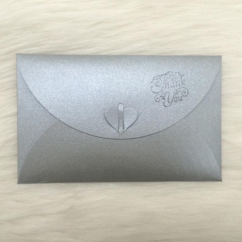DIY 50pcs/lot Gray Pearl Paper Wedding Invitations Envelope(China  (Mainland))