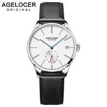 Agelocer Automatic Watch font b Women b font Leather Bracelet Ladies Wristwatch Black Waterproof Mechanical Watch