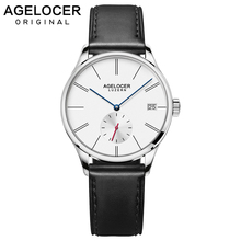Agelocer Automatic Watch Women Leather Bracelet Ladies Wristwatch Black Waterproof Mechanical Watch Womens Clock Reloj Mujer