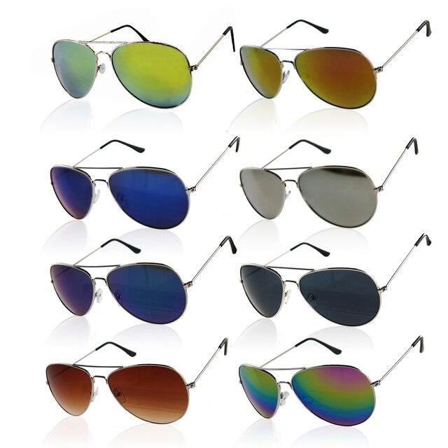 1e60da37379db Barato novo Piloto da Moda Espelho Óculos De Sol Da Marca Óculos De Sol De  Vidro