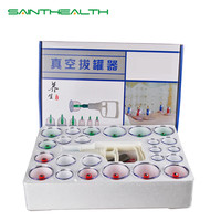 Effective Healthy acupuncture suction cup set massage cup magnetic therapy vacuum cupping device24 tank gas cylinders