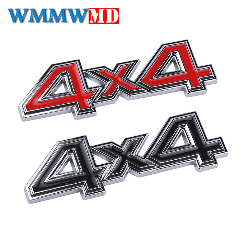 Car styling 3D Metal 4X4 Four-Wheel <font><b>Drive</b></font> Car Sticker <font><b>Emblem</b></font> Badge For Jeep <font><b>BMW</b></font> Ford Volvo Nissan Mazda Audi Honda Lada Kia image