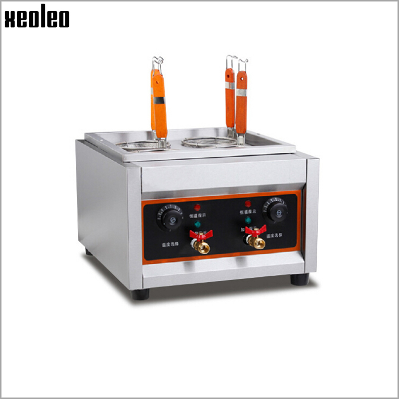 Xeoleo Commercial Electric Pasta cooker Electric Noodle machine 4 pots stainless steel Pasta boiler cooker Electric fryer vosoco electric fryer pasta cooker commercial noodle machine pots stainless steel pasta boiler cooker electric heating furnace