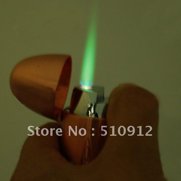 Bullet Style Butane Lighter with LED Flashlight