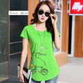 ladies t-shirt dress new lady dry short sleeved tops 2017 women summer clothing  S-3XL size