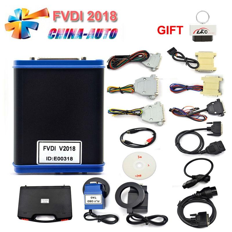 DHL Livraison FVDI 2018/2015/2014 Y Compris 18 Logiciel Scanner Couvre Tous Les FVDI Fonctions Versions Complètes Offre Spéciale Auto programmeur principal