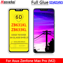 Full Glue Tempered Glass For ASUS Zenfone MAX Pro M2 ZB631KL ZB633KL 6.26 Cover 5D 6D 9D Screen Protector Protective Film