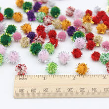 100Pcs/Lot Christmas hat decoration Children's educational toys Manual materials wool ball Size 10mm