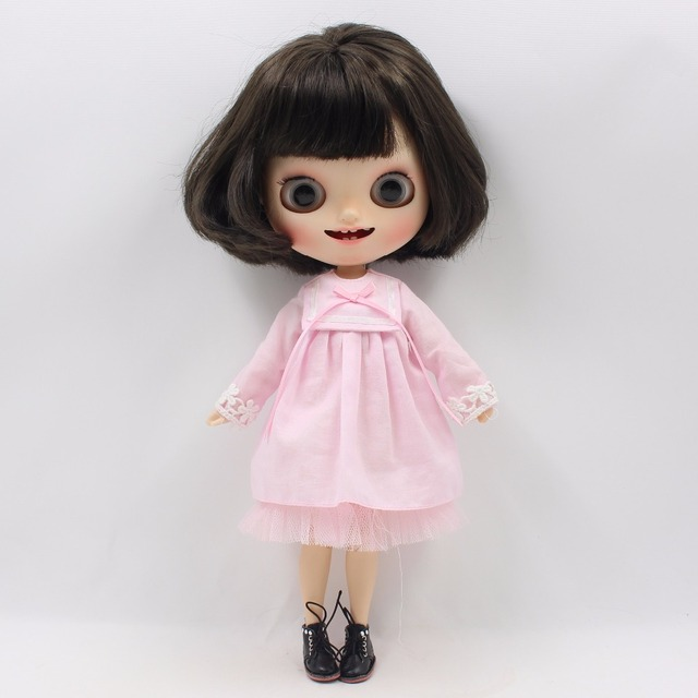 Neo Blythe Doll Pink Yellow Dress & Chicken Bag