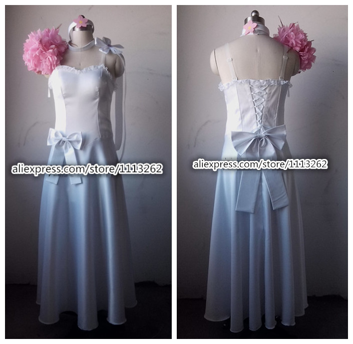 Fairy Tail Cosplay Costume Anime Erza Scarlet Wedding Dress Custom Made Any Size