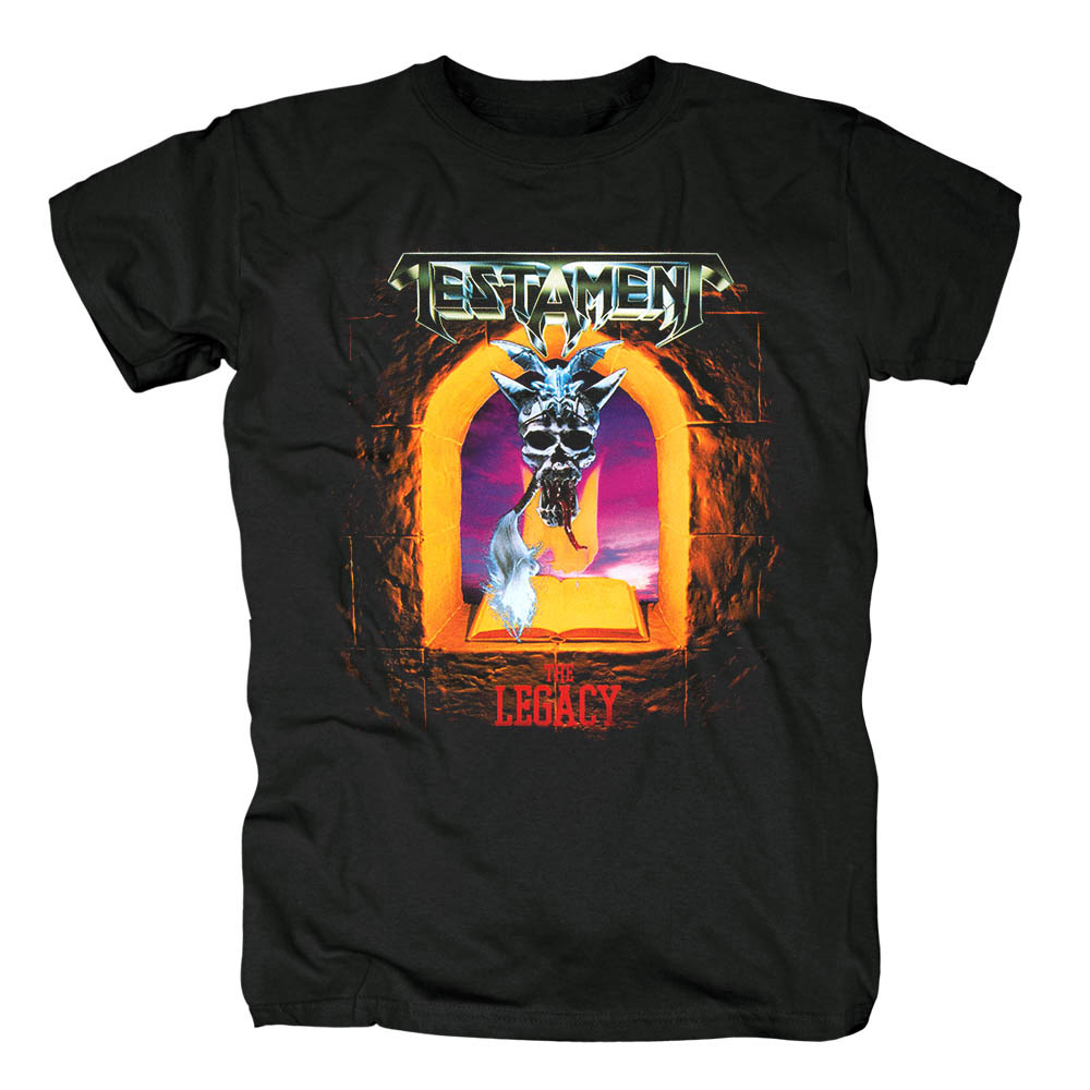 Bloodhoof Testament Thrash Metal Rock The Legacy Album Black T-SHIRT Men Asian Size image