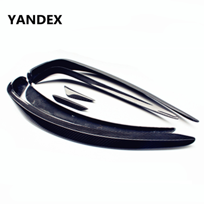 YANDEX W176  Carbon Fiber Front Splitter Lip For  Mercedes Benz A Class W176 2013-2015 A160 A180 A200 A250 With Sport Edition