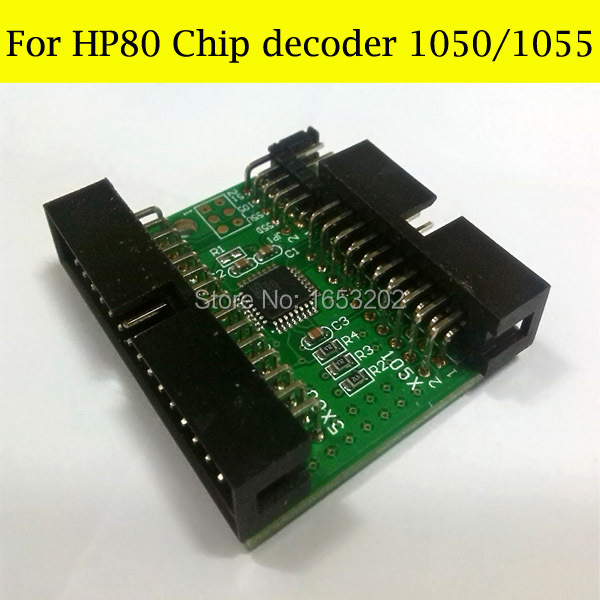 Hot selling!!! Decoder for hp designjet 1050 1055 for hp80 chip decoder for hp80 cartridge for hp designjet 1050 1055 1050ps printer chip decoder for hp 80 ink cartridge