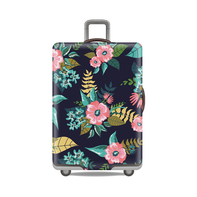 Travel Elastic Luggage Cover Flowers Protect Dust Bag