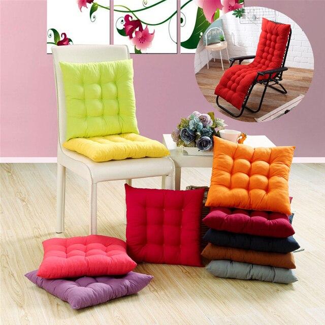 Cojín de Color sólido suave cómodo silla de oficina cojines de asiento reclinable silla cojín largo Varios tamaños disponibles