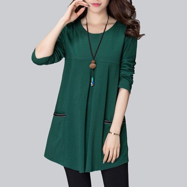 7257a8c65411e 4XL Plus Size Blouse Women Tunic Fashion Woman Blouses 2019 Long Sleeve  Striped Patchwork Women s Shirts