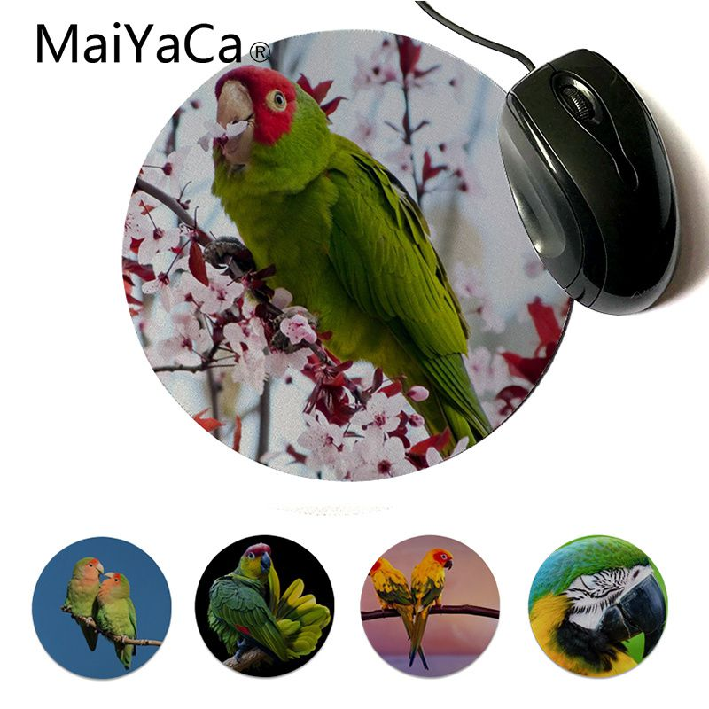 Impartial Maiyaca Hot Sales Amazing Parrot Wide Gamer Play Mats Mousepad Gamer Speed Mice Retail Small Rubber Round Mousepad For Lol Non-Ironing Mouse & Keyboards Mouse Pads