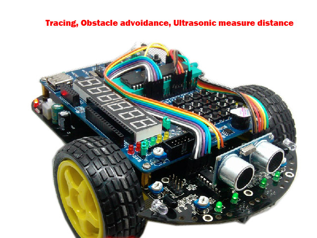 51 Microcontroller Development Board C51 Intelligent Car R2 Tracking Obstacle Avoidance Electronic Suite Starter Kit diy rc toy