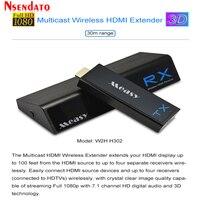 Measy W2H H302 беспроводной Беспроводная передача HDMI Extender HDMI 1 в 4 из Wi Fi аудио видео дисплея приемник передатчик для 3D