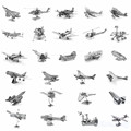 3D Metal Puzzle of Aerospace & Airplane Series Mini 3D Fighter Jigsaws From Laser Cut Metal Sheets for Kids Educational Toys