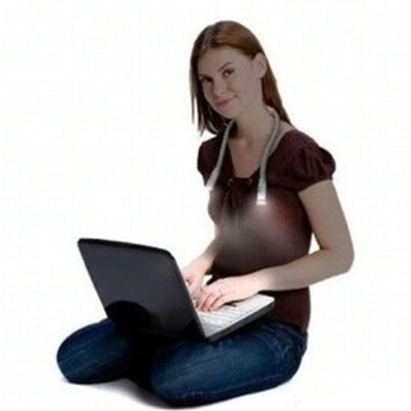 Newest Flexible Handsfree Led Neck Light Hug light Book Reading Lamp Un abrazo de luz No ...