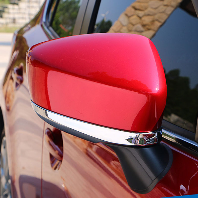 Free shipping For Mazda 3 Axela 2014 2015 ABS chrome car accessories side mirror cover cap trim