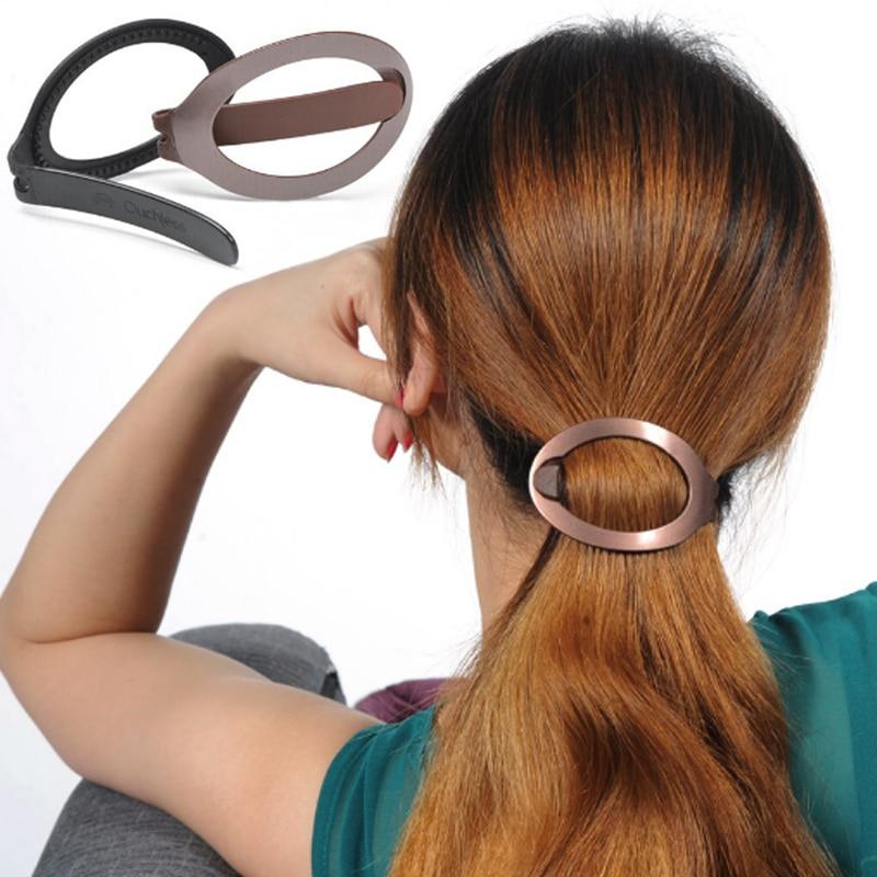 LNRRABC Fashion Women Girls Soft Plastic Barrette Styling Tool Updo Tools Hair Clip ...