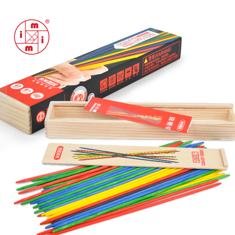 MITOYS Mikado 41PCS colorful Baby Educational Wooden Traditional Spiel Pick Up Sticks With Box Game montessori wood toysMITOYS Mikado 41PCS colorful Baby Educational Wooden Traditional Spiel Pick Up Sticks With Box Game montessori wood toys