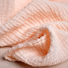 Thickening double color cotton crepe fabric pure spring and summer dress texture linen