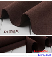 19# brown 1 meter double brushed middle thick cloth fabric for DIY colthes dress overcoat material
