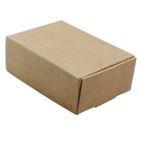 Brown 8.5*6*3cm Craft Paper Foldable Storage Box for Jewelry Gifts Packaging Party Favors Kraft Paperboard Grocery Decor Boxes