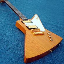 wholesale high quality plant woodbody gbson explore solid yellow guitar free shipping Gold hardware