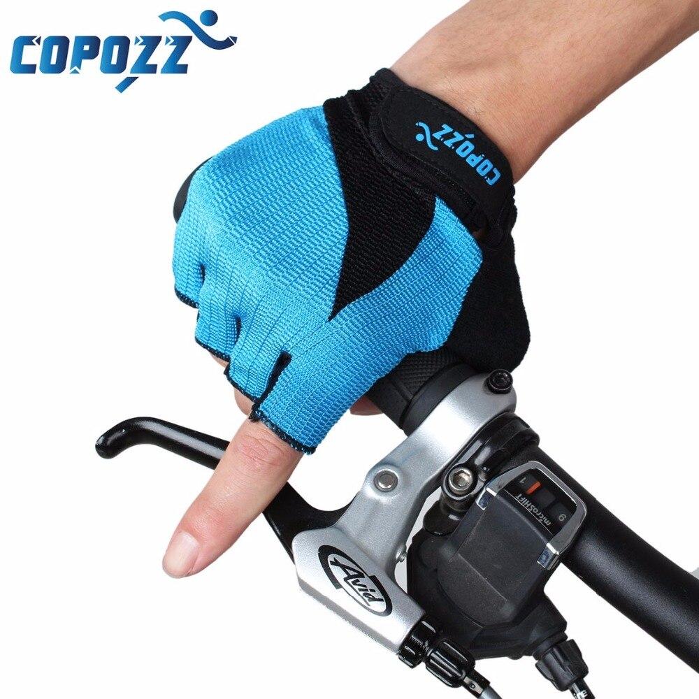 Prix pour Nouveau copozz gel moitié doigt hommes femmes vélo gants pour vtt vélo/vélo guantes ciclismo racing luvas sport bicicleta