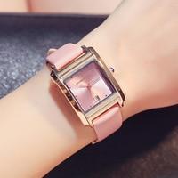 Reloj Mujer New Brand Genuine Leather Women Watch Fashion Design Rectangular Calendar Quartz Watches ladies waterproof Clock