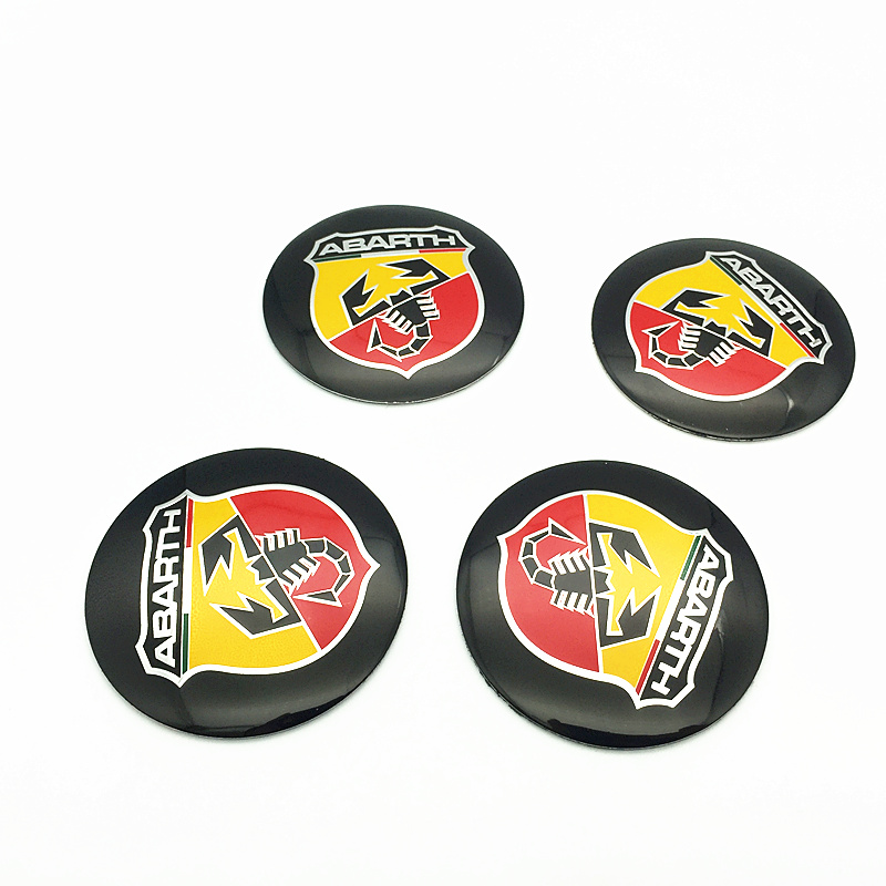 4pcs 56 5mm For abarth logo aluminum car emblem Wheel Center Hub sticker Rim badge For fiat punto abarth 500 stilo duc in Car Stickers from Automobiles Motorcycles