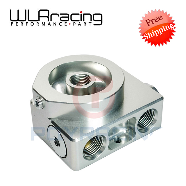 WLR Free shipping- Oil Filter Sandwich Adaptor For High quality Oil filter remote block with thermostat 1xAN8 4xAN10 ORB FEMALE high quality coconut oil filter press oil extraction machine with ce certification
