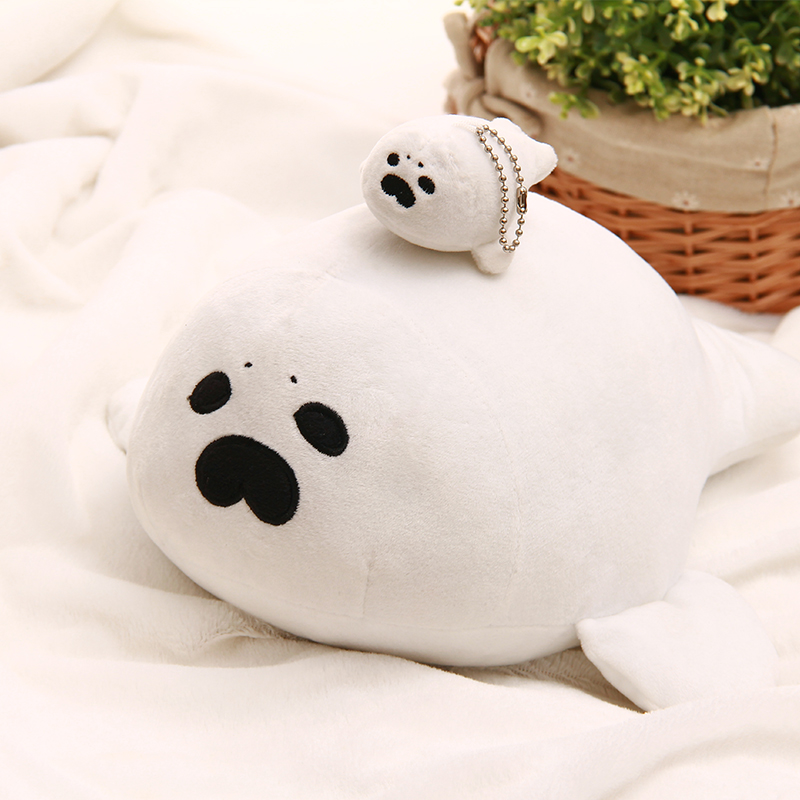 Lovely Seals Plush Toy Animal Stuffed Pillow Gift White Sea Lions Collectible Doll Toy Cute Seal Keychain Pendant Decoration Toy fancytrader seal plush baby doll large stuffed cartoon animal arctic seal toy white bear kids gift pillow 39inches 100cm